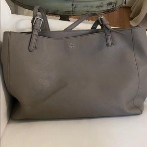 Tory Burch Emerson buckle purse gray